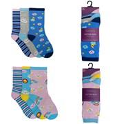 Ladies 3pack Cotton Rich Cloud Socks (size Uk4-7) (SK438)